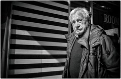 Thank You Sir (Steve Lundqvist) Tags: man poor walking elderly aged age people vecchio vecchiaia teramo italy italia italiano povertà poverty bw blackandwhite monochrome street fujifilm x100s streetphotography candid shot snap eyecontact