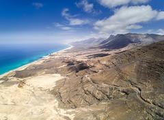 Playa De Coffete (Vytenis Malisauskas) Tags: ngc spain fuerteventura coffete mountains aerial drone yuneec beach