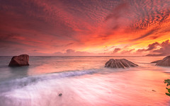 Seychelles - Anse Source D'Argent (Jerry Fryer) Tags: seychelles indianocean coast beach waves sand seascape sunset rocks clouds canon 5dmk2 lee filters