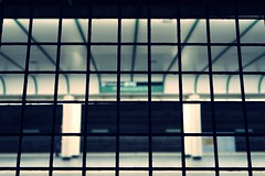 A study in squares (No_Mosquito) Tags: vienna austria city night lights urban underground squares grid subway u4 deserted friedensbrücke canon powershot public transportation g7xmarkii