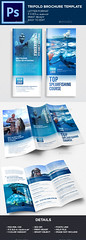 Trifold Brochure Template (Kijikai) Tags: 3fold a4 agency bluebrochure brochuretemplate business clean corporate creative creativedesign customdesign design editable elegant flexible illustrator indesign marketing modern multiuse multipurpose printtemplate simple trifold