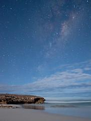 Mary Ellis Wreck Beach (Dion1975) Tags: ocean reflection beach night clouds stars rocks southaustralia portlincoln