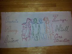 2013-04-12 08.54.58 (aprilsongstressdesigns) Tags: handwriting quilt embroidery 1d redwork onedirection harrystyles louistomlinson zaynmalik liampayne niallhoran aprilsongstress