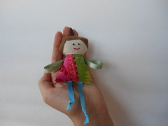 Handmade doll key chain (Cristali Designs) Tags: girls keychain key dolls handmade crafts fabric scrap handmadedolls keyfob charmpurse cristali
