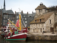 Honfleur- Fishing Boat (margatt2012) Tags: france boat fishing medieval basin honfleur normandy