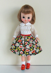 poppy and margaret dress (INOMI) Tags: doll handmade craft fashiondoll dolldress tinybetsy dollcloth betsymccall8