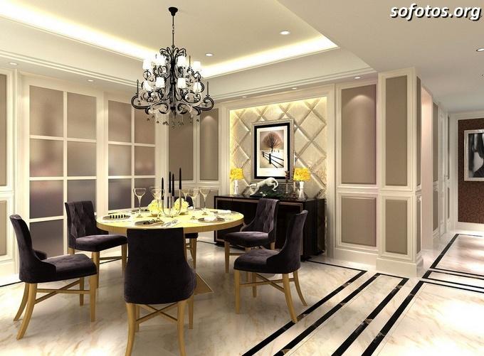 Salas de jantar decoradas (75)