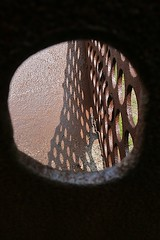 Hole Perspective (flickr flame) Tags: rust iron shadows perspective holes corteniron