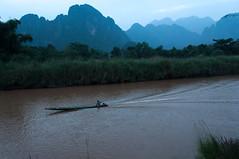 Nam Song,Vang Vieng, Laos