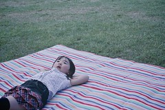 SAKURAKO - Good place for a rest. (MIKI Yoshihito. (#mikiyoshihito)) Tags: japan sapporo picnic hokkaido daughter sakurako 娘 ピクニック 平岡公園 さくらこ 櫻子 サクラコ 4歳8ヶ月