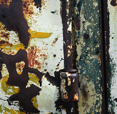hinged history (Patinagal) Tags: old abstract color history texture metal rust paint decay rusty surface weathered aged patina relic remnant