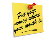 Put Your Money Where Your Mouth Is White Background
