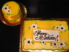 "Smash cakes are a additional $15.00 to the price of a larger decorated cake. Flower design on larger cake:7"".......................................$5.009"".......................................$10.001/4 Sheet.........................$15.001/2 Sheet.........................$20.00Full Sheet........................$35.00Flower design on smash cake.........included in $15.00 base price"