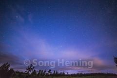 stars (NiCK) Tags: road park wood blue light white mountain snow grass yellow stone night forest star unitedstates national yellowstonenationalpark wyoming thebigdipper