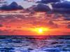 Boynton Beach Sunrise Sailboat (elbophoto) Tags: ocean clouds sailboat sunrise day cloudy boyntonbeach photomatix singleexposurehdr topazplugins