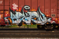 ASKEW (TheLost&Found) Tags: urban art minnesota bench photography graffiti paint fb painted exploring minneapolis trains explore sur boxcar graff bandit burner freight rolling askew freights tmd moniker benched