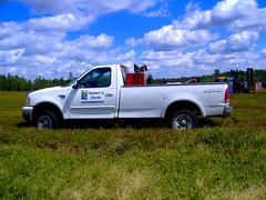 FATHER'S FARM...... (jwakanmorgans) Tags: blue white truck berries working maine august equipment crop boxes bushes harvester centerville harvesting downeast 2013