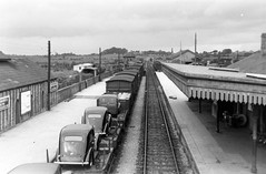 Shame we couldn't call these ClareMorris Minors! (National Library of Ireland on The Commons) Tags: ireland cars ford fifties footbridge tracks trains september railwaystation 1950s mayo van 20thcentury railways 1950 automobiles connacht railroads prefect signalbox connaught railroadstation claremorris signalman nationallibraryofireland corasiompairireann ci jamespodea claremorrisrailwaystation odeaphotographiccollection