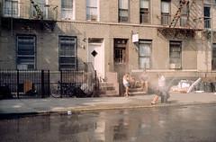 Hydrant (dtanist) Tags: nyc newyorkcity newyork film water brooklyn analog hydrant fire 50mm bay cool ar kodak ridge 100 konica t3 cooling autoreflex ektar hexanon