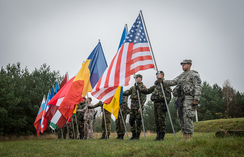 Multinational color guard