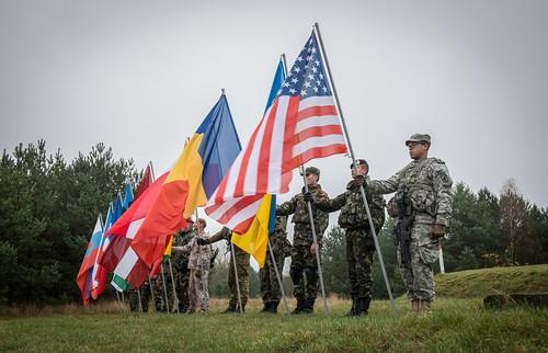 Multinational color guard