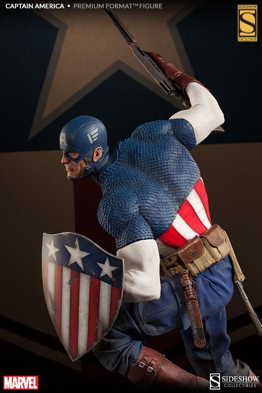 Sideshow - 美國隊長 Allied Charge on Hydra Premium Format 雕像