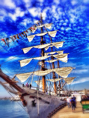 Pirate Ship Star of India (Uncl3xSam) Tags: ocean show california street new old city trip travel family flowers blue trees friends light sunset red party summer vacation portrait sky people urban bw music usa sun india white lake black flower color macro green art love film beach me nature water girl fashion yellow festival museum architecture night clouds vintage square landscape geotagged fun photography star photo concert model raw day ship unitedstates photos live pirate squareformat iphone iphoneography instagramapp
