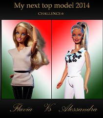 MY NEXT TOP MODEL 2014:FLAVIA VS ALESSANDRA (HELICON ROSE) Tags: fashion barbie cutie fairy blonde alessandra flavia fashionistas starlight my