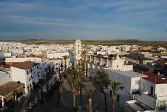Plaza de Santa Catalina vista desde la torre de Guzmán, Conil de la Frontera.