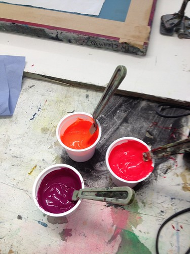 """Fabric screen printing at LPW • <a style=""""font-size:0.8em;"""" href=""""http://www.flickr.com/photos/61714195@N00/11136800764/"""" target=""""_blank"""">View on Flickr</a>"""