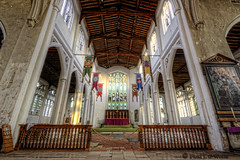 _MG_9547_155#365 (plw1053) Tags: wood windows light sunlight detail church architecture project interior stonework columns sigma wideangle flags carving altar tiles 365 essex hdr detailed thaxted photomatix project365 canon600d