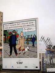Tintin @ Saint-Nazaire (mathiaslphotos) Tags: france port harbour tintin saintnazaire olympuspenepl2