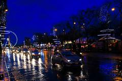 Champs-lyses (slumbernaut) Tags: christmas xmas city travel winter paris france tourism night dark french lights romance luminosity