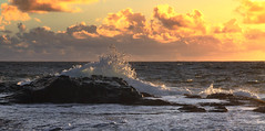 Morning Tide (csnyder103) Tags: ocean morning sunrise wave spray atlantic stbarths canoneos7d
