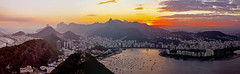 Rio from Sugar loaf after sunset pan1 (Sunnytimes) Tags: sunset brazil riodejanerio