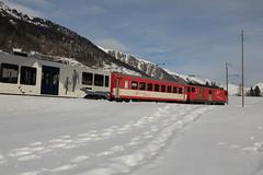 MGB Matterhorn Gotthard Bahn Gepcktriebwagen Deh 4/4 II Nr. 93 ( Triebwagen - Baujahr 1979 ) mit Taufname Oberalp ( Ehemals FO Furka - Oberalp -  Bahn ) unterwegs im Goms - Obergoms im Kanton Wallis - Valais in der Schweiz (chrchr_75) Tags: train schweiz switzerland suisse swiss eisenbahn zug christoph svizzera bahn treno schweizer wallis januar valais mgb 2014 suissa chrigu goms 1401 janaur bahnen obergoms chrchr kantonwallis hurni chrchr75 chriguhurni kantonvalais albumbahnenderschweiz chriguhurnibluemailch januar2014 hurni140113 albummgbmatterhorngotthardbahn