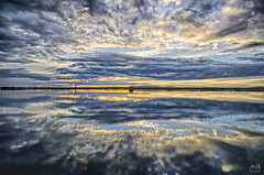 Albufera de Valencia. Enero 2014_1 (MSB.Photography) Tags: sunset sky españa nature valencia clouds reflections landscape atardecer spain paisaje cielo hdr reflejos albufera nex7