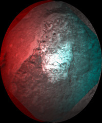 Curiosity ChemCam Sol 520 anaglyph (2di7 & titanio44) Tags: mars cam anaglyph nasa chem curiosity jpl caltech malin msss chemcam