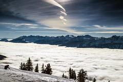 revelstoke sky (Ruddmill) Tags: winter snow canada mountains clouds rockies skiing britishcolumbia bluesky skier revelstoke