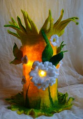 felted flower lamp-felted wool lamp-bedside lamp-felted flowers-nightlight-home-decoration-filzlampe-felted art to wear-inken gaddass (Felted Art To Wear) Tags: light home wool lamp felted lights handmade decoration felt nightlight handcrafted accessories lamps bedside leuchte gefilzt filzlampe