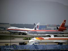 Northwest DC-10 'N227NW' (Longreach - Jonathan McDonnell) Tags: frankfurt scan boeing boeing747 747 frankfurtammain unitedairlines northwestairlines dc10 mcdonnelldouglas eddf nikoncoolscanved scanfromaslide mcdonnelldouglasdc10 n227nw 825022