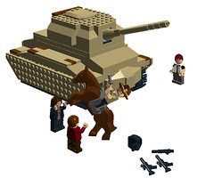 Escape from the tank 01 (mcs157218) Tags: walking dead tank lego rick horror vehicle tvshow zombies walkers