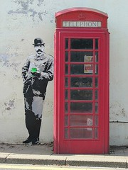 Elgar graffiti (Katie-Rose) Tags: uk graffiti 26 artists malvern worcestershire telephonebox phonebox elgar katierose canonpowershotsx230hs 114picturesin2014 26queue leemorrisandtombrown