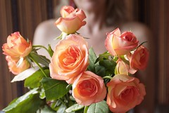 Woman & Roses (Marloo Photography) Tags: roses orange nude blonde feminie may2011