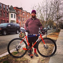 Brook and his All-City Macho Man Disc (Mr.TinDC) Tags: friends people bike bicycle square cyclists washingtondc dc squareformat brook mayfair columbiaheights bicyclists monroestreet allcity iphoneography instagramapp uploaded:by=instagram allcitymachomandisc