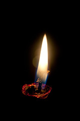 P365-102 Candle flame (SilverStack) Tags: red closeup candle indoor burning flame burn incandescent