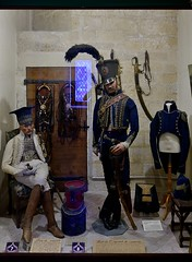0669-20160521_Salon de Provence-Bouches du Rhone-France-Chateau de l'Emperi-Military Museum-display French army dress through time-8 of 17 (Nick Kaye) Tags: salondeprovence bouchesdurhone france europe city castle house museum