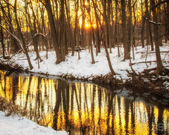 March Sunset (brianloganphoto) Tags: trees creek sunset warwick water landcape newyork rural conditions snow