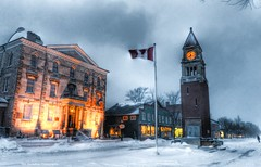 Niagara On The Lake (Rex Montalban Photography) Tags: rexmontalbanphotography notl niagaraonthelake niagara winter snow hdr glow saturated100yellow painterly desaturatedhdr