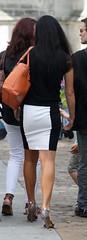 182 (SadCire) Tags: woman frau femme mujer girl calves legs miniskirt minidress skirt heels street candid sexy